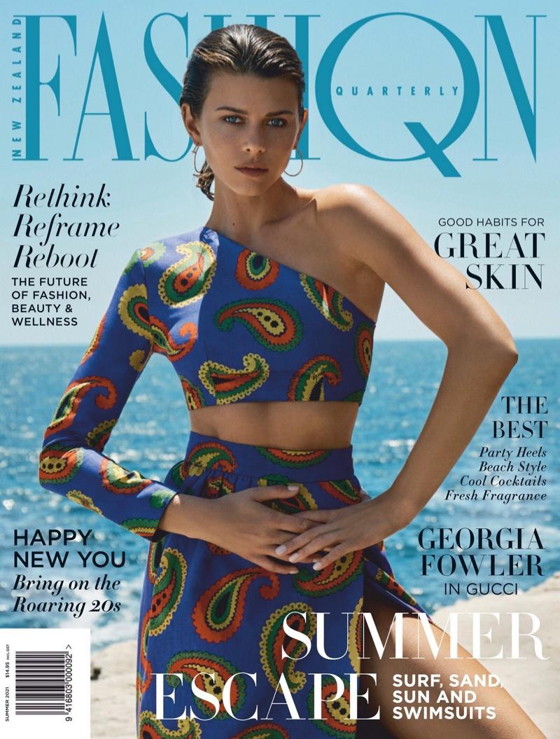 Georgia Fowler on Fashion Quarterly Summer 2021 Cover