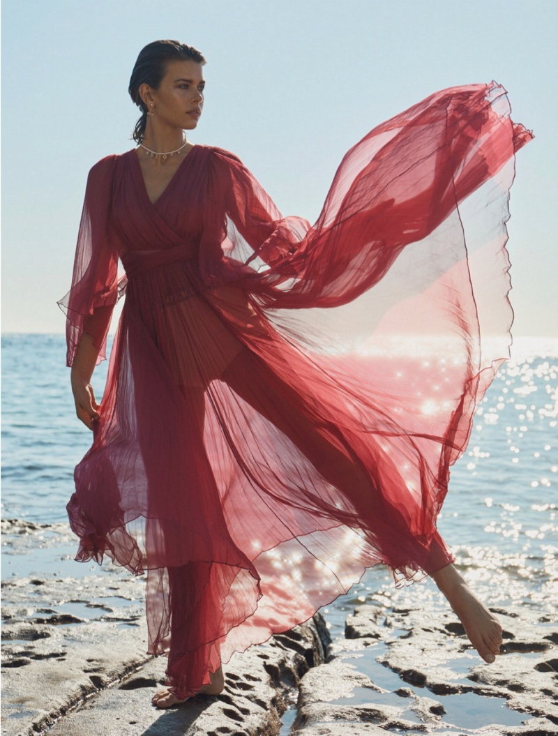 Georgia Fowler Poses in Summer Styles for Fashion Quarterly