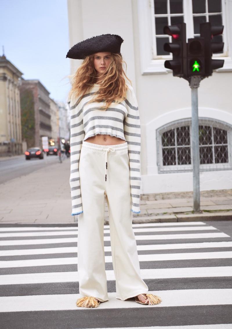 Olivia Vinten stars in H&M Studio spring-summer 2021 campaign.