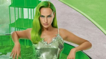 Irina Shayk Looks Glam in Green for Vogue Russia