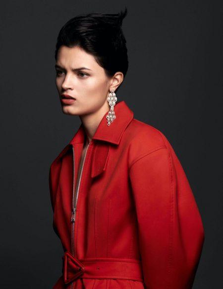 Isabella Emmack Shines in Bulgari for Harper's Bazaar Brazil