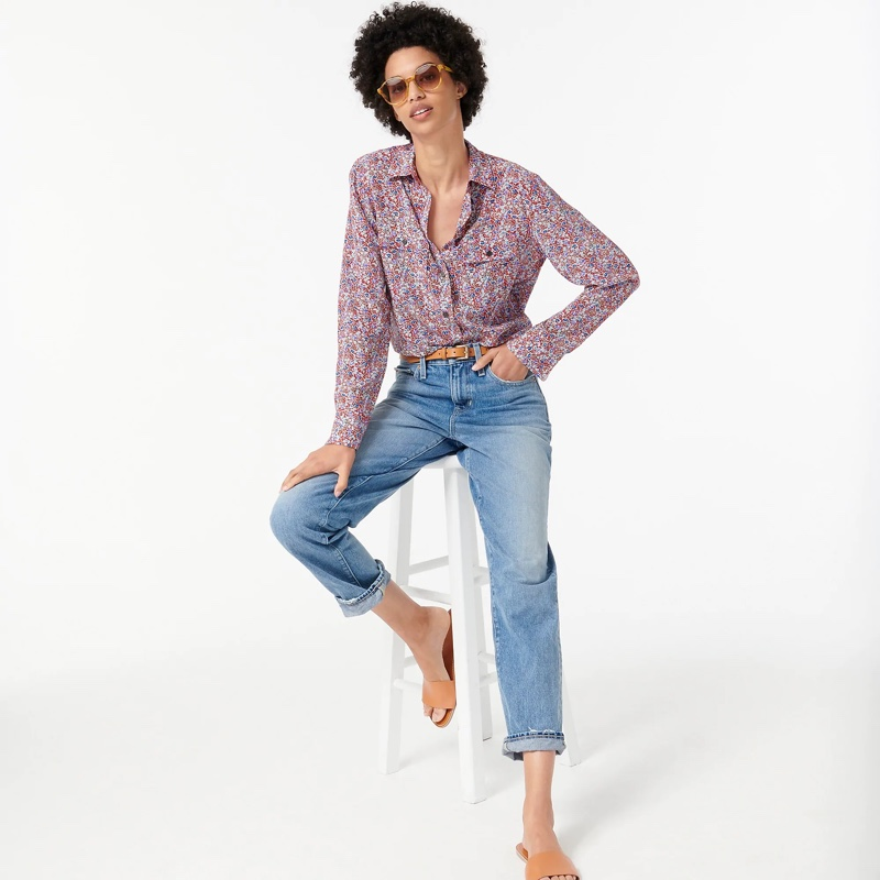 J. Crew Classic-Fit Silk Shirt in Floral $148