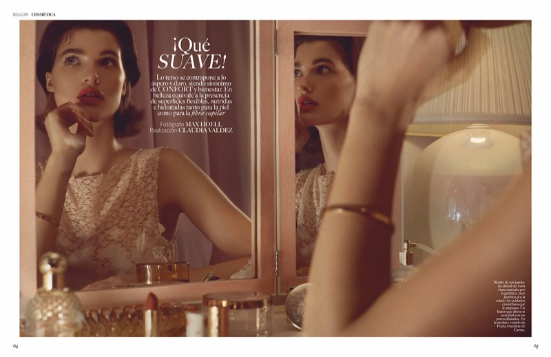 Julia Van Os Has a Chic Beauty Routine for Vogue Mexico