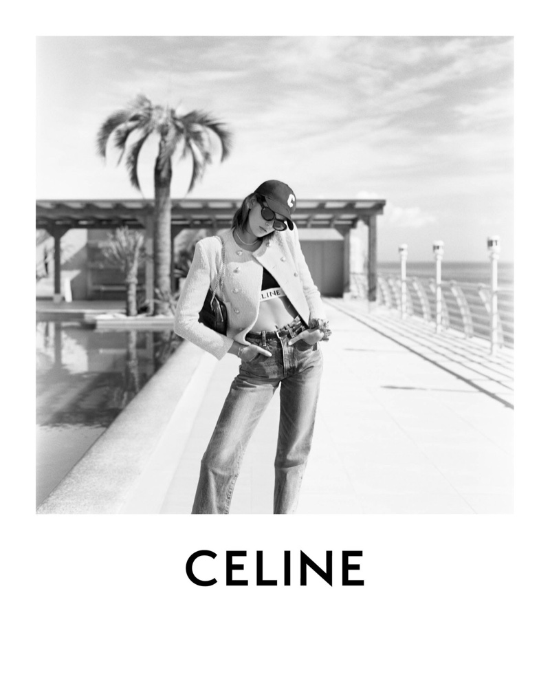 Celine taps Kaia Gerber for its spring-summer 2021 campaign.