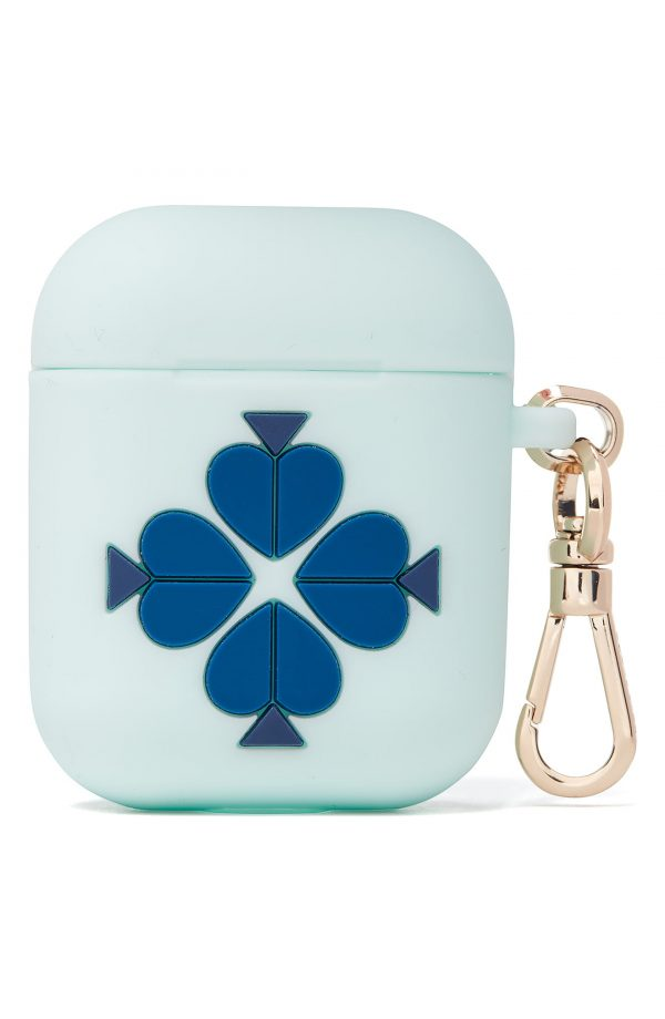 Kate Spade New York Airpod Silicone Case, Size One Size - Blue