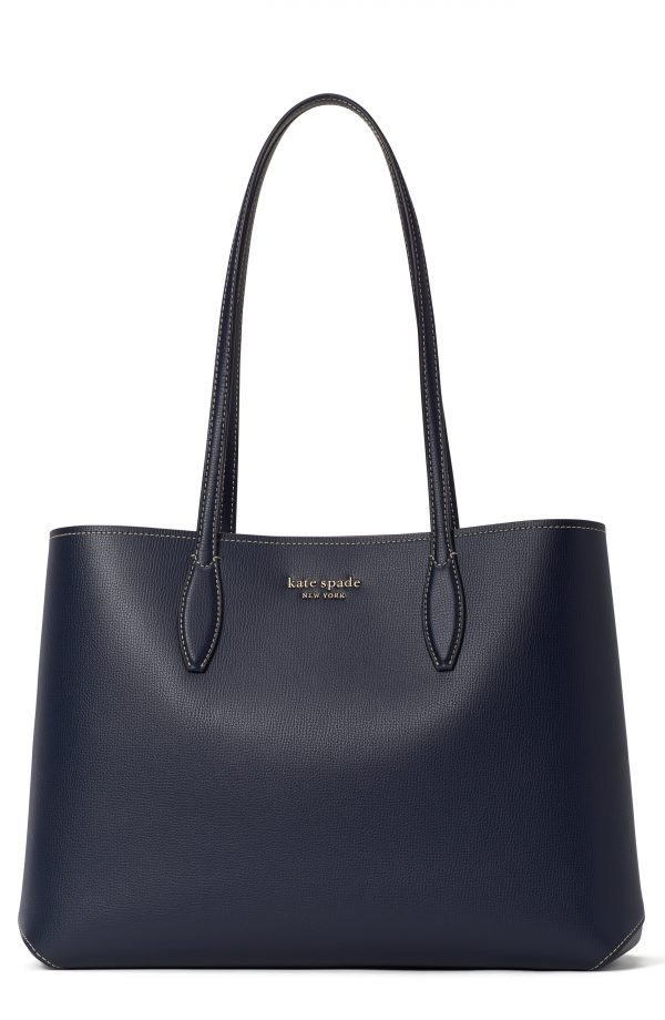 Kate Spade New York All Day Large Leather Tote - Blue