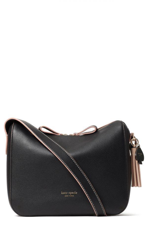 Kate Spade New York Anyday Medium Leather Shoulder Bag - Black