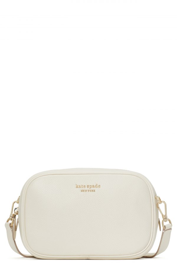 Kate Spade New York Astrid Medium Pebbled Leather Camera Bag - White