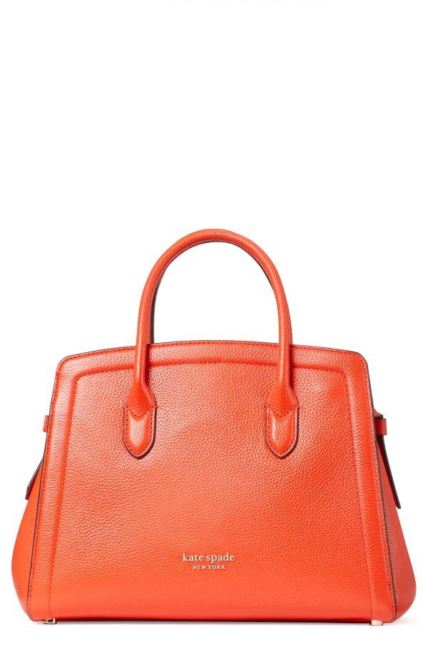 Kate Spade New York Knott Medium Leather Satchel - Red