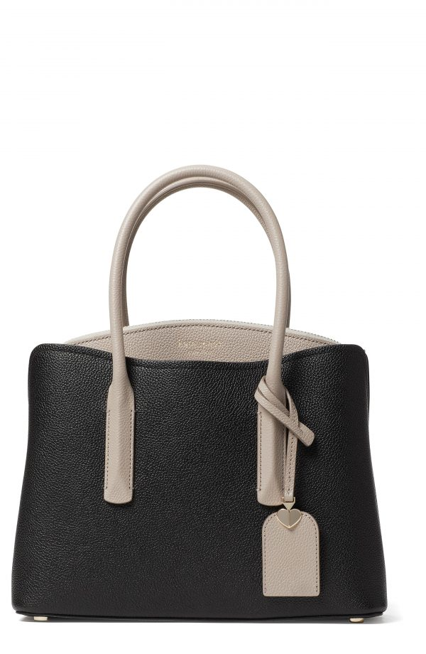 Kate Spade New York Medium Margaux Leather Satchel - Black