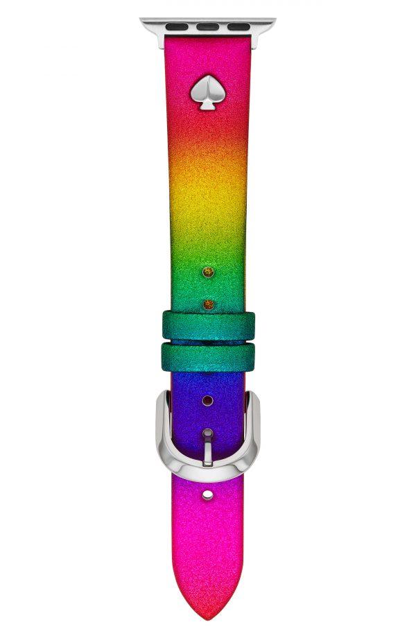Kate Spade New York Rainbow Leather Apple Watch Strap