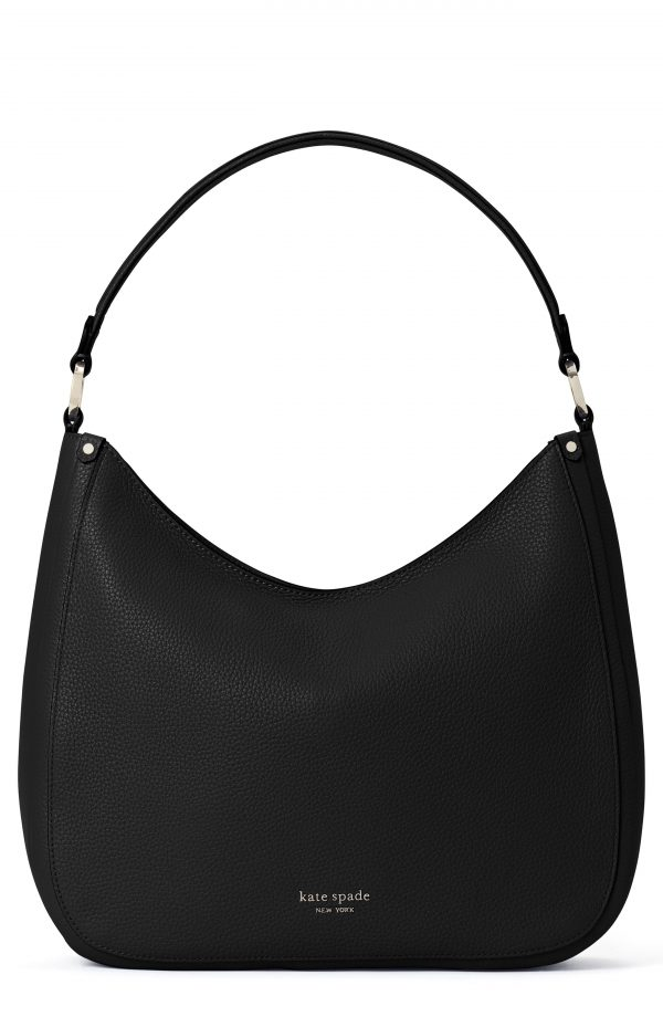 Kate Spade New York Roulette Large Leather Hobo Bag - Black