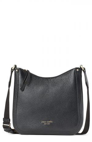 Kate Spade New York Roulette Medium Leather Messenger Bag - Black