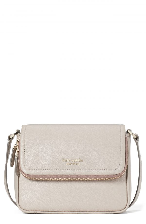 Kate Spade New York Run Around Large Flap Crossbody Bag - Beige