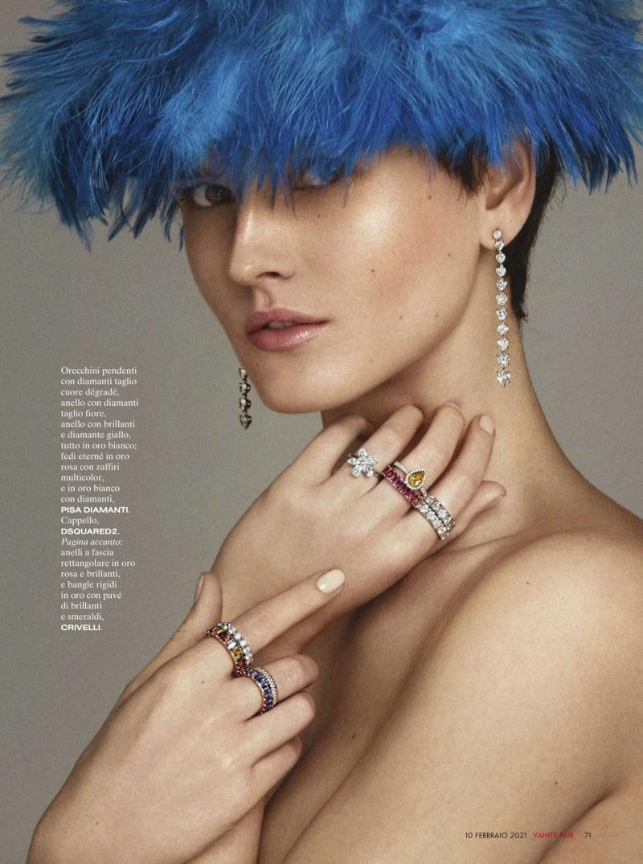 Katlin Aas Poses in Luxury Jewelry for Vanity Fair Italy
