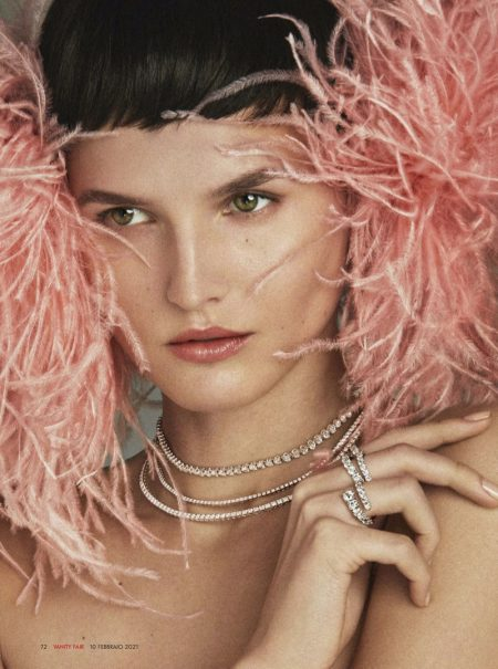 Katlin Aas Poses in Luxury Jewelry for Vanity Fair Italy