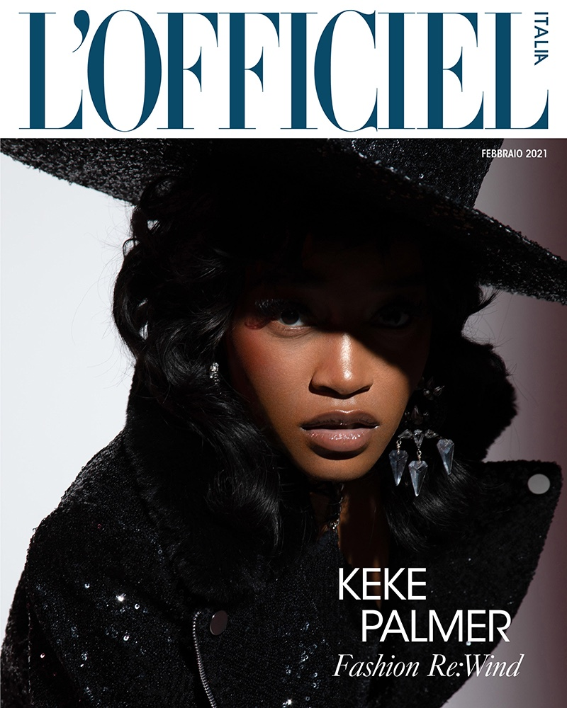 Keke Palmer on L'Officiel Italy February 2021 Cover. Photo: Quintin and Ron