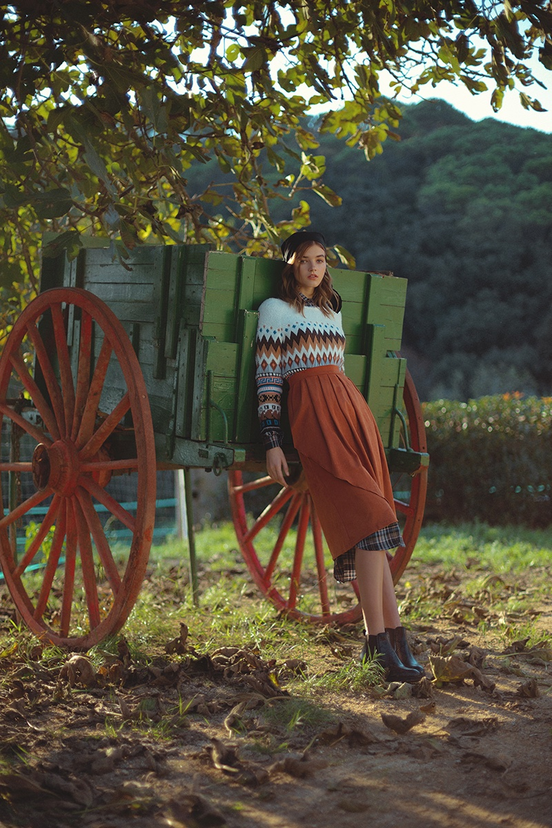 Kristina Malevych Wears Countryside Style for Grazia Netherlands