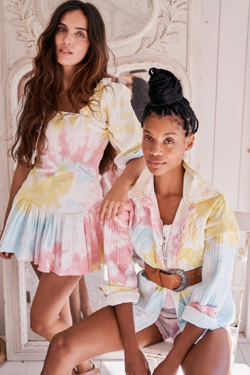 Tie-dye print stands out in LoveShackFancy spring 2021 collection.