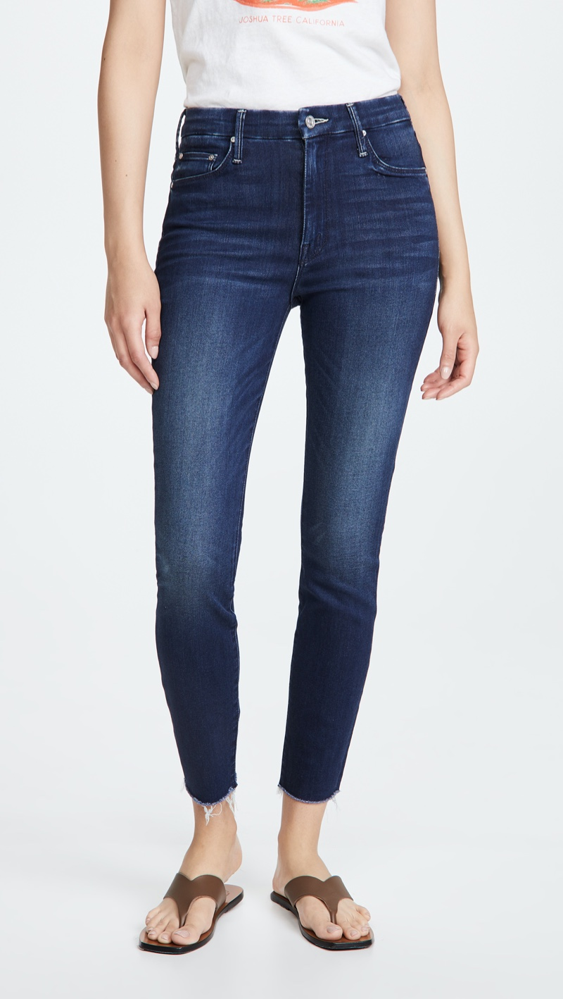 MOTHER High Waisted Looker Ankle Fray Jeans $228