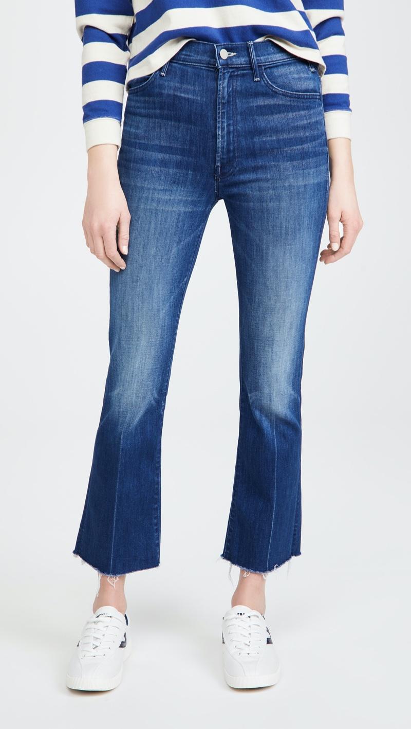 MOTHER The Hustler Ankle Fray Jeans $228