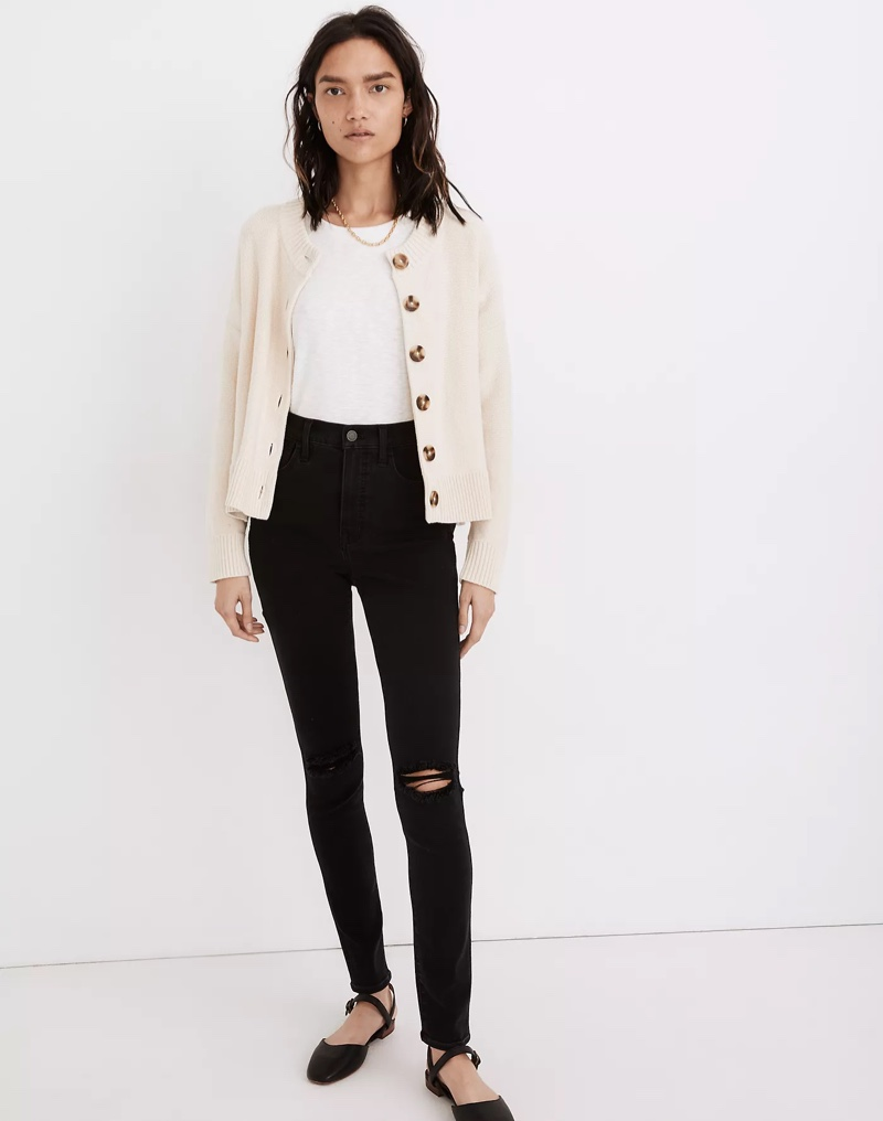 Madewell Broadway Cardigan Sweater in Muted Alabaster $88
