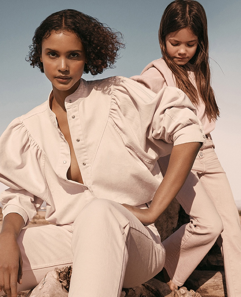 An image from Mango Denim's spring 2021 advertising campaign.