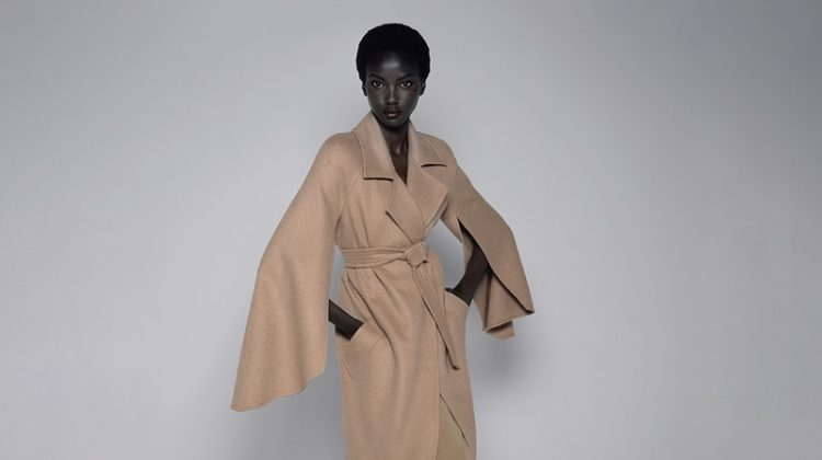 Anok Yai poses for Max Mara spring-summer 2021 campaign.