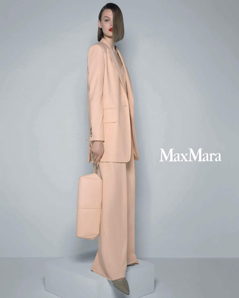 An image from Max Mara's spring 2021 advertising campaign.