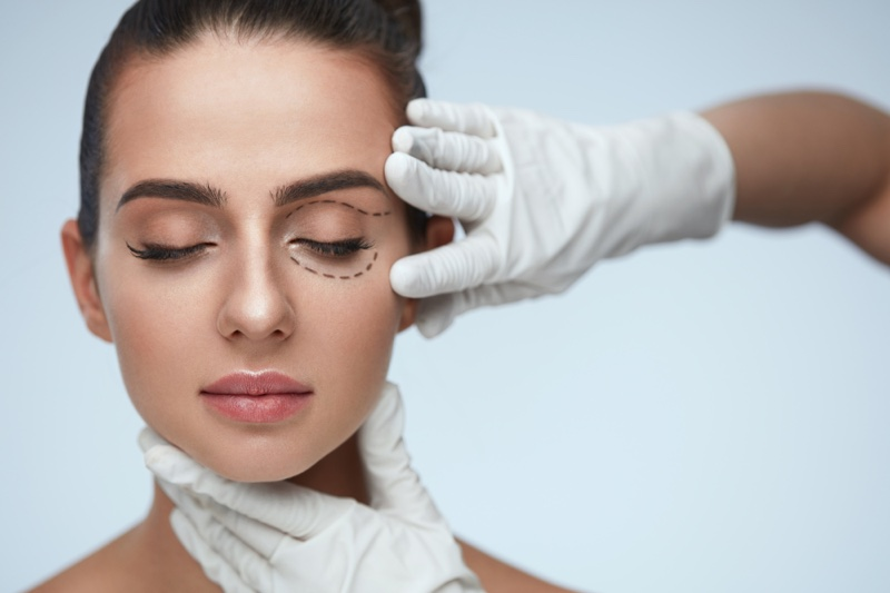 Model Beauty Lines Face Cosmetic Surgery