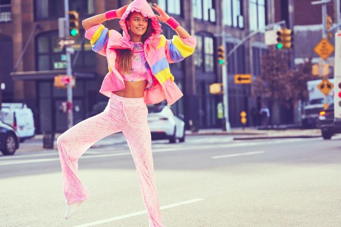 Nina Agdal stars in LoveShackFancy x Beach Riot campaign.