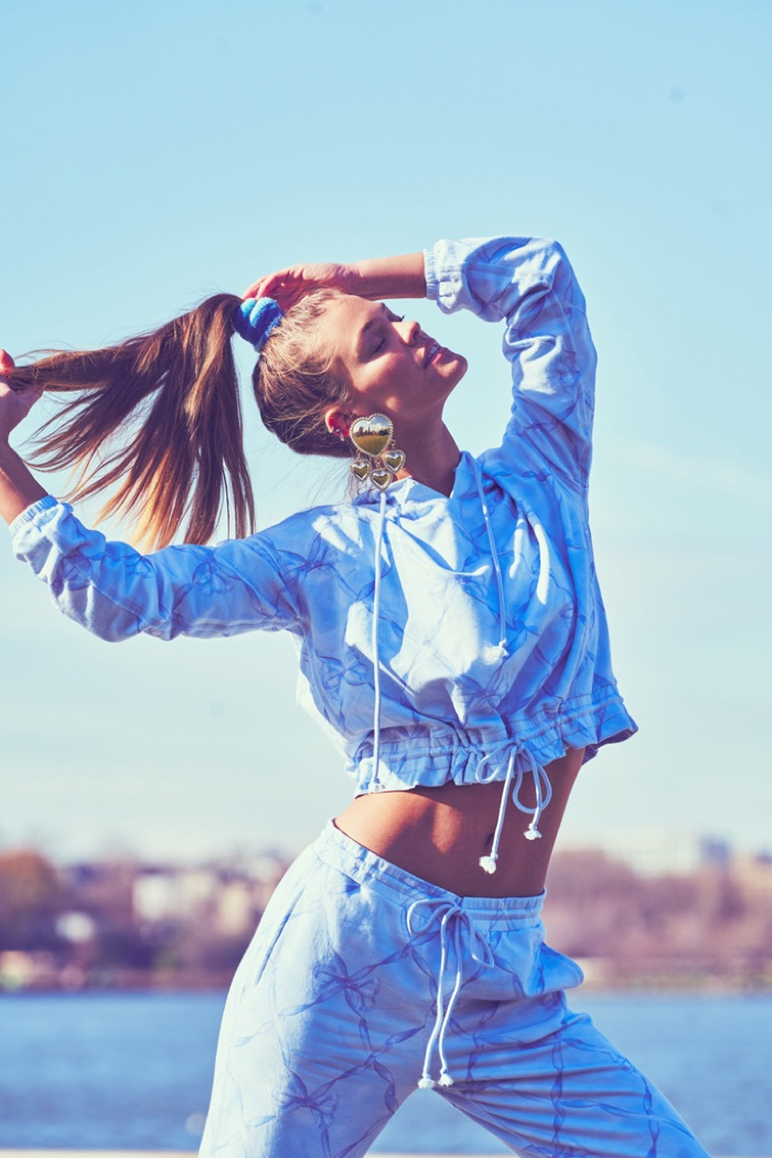 Nina Agdal Channels 80s Style for LoveShackFancy x Beach Riot Line