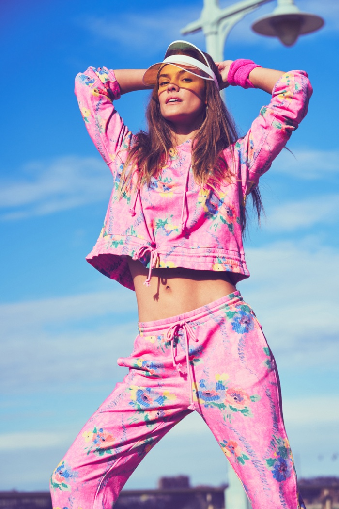 Embracing print, LoveShackFancy and Beach Riot join forces on an activewear collaboration.