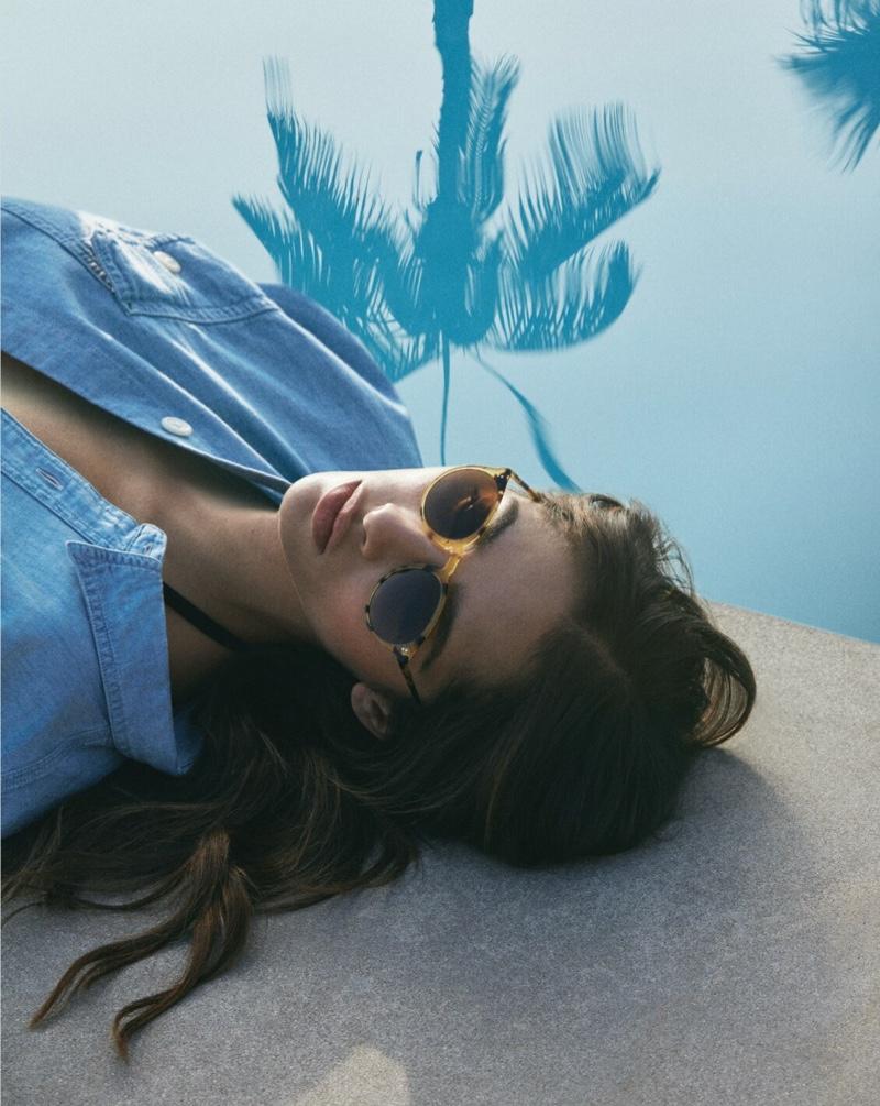 Yasmin Wijnaldum fronts Oliver Peoples spring-summer 2021 campaign.