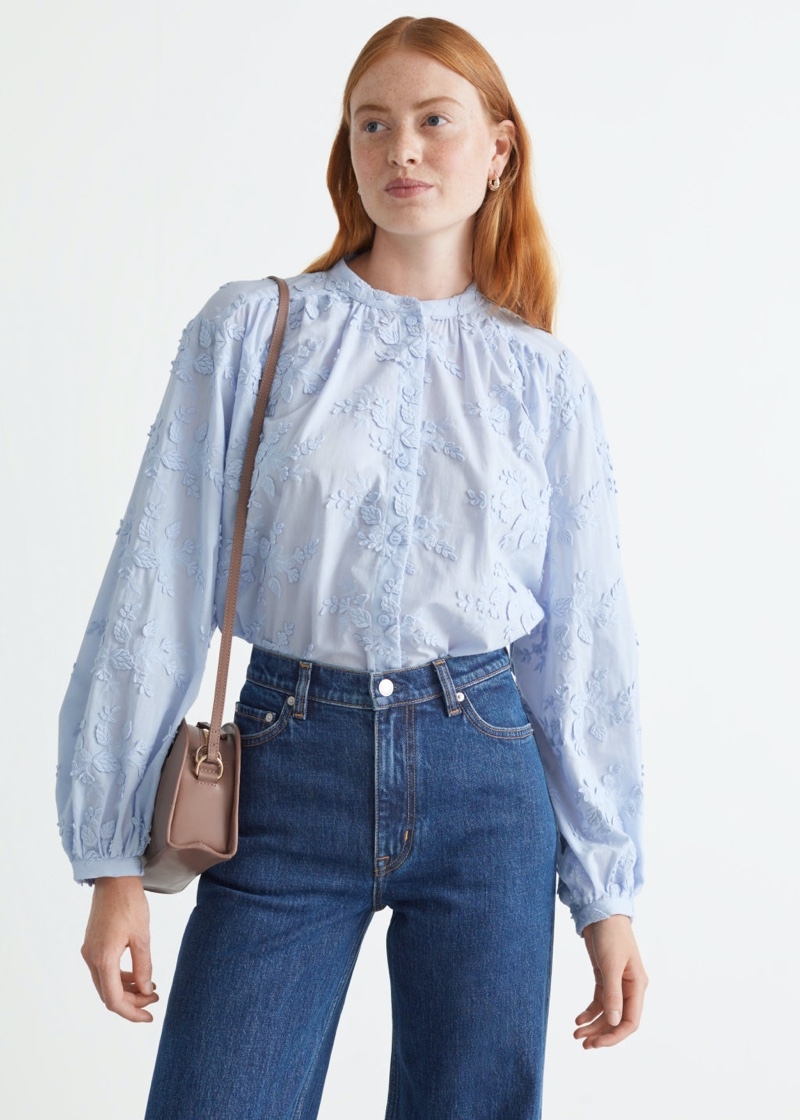 & Other Stories Relaxed Textured Blouse $89