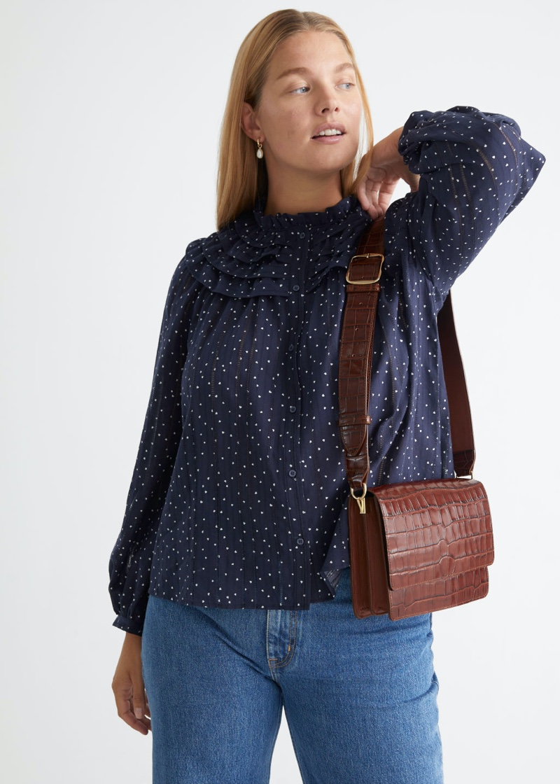 & Other Stories Ruffled Collar Blouse $89