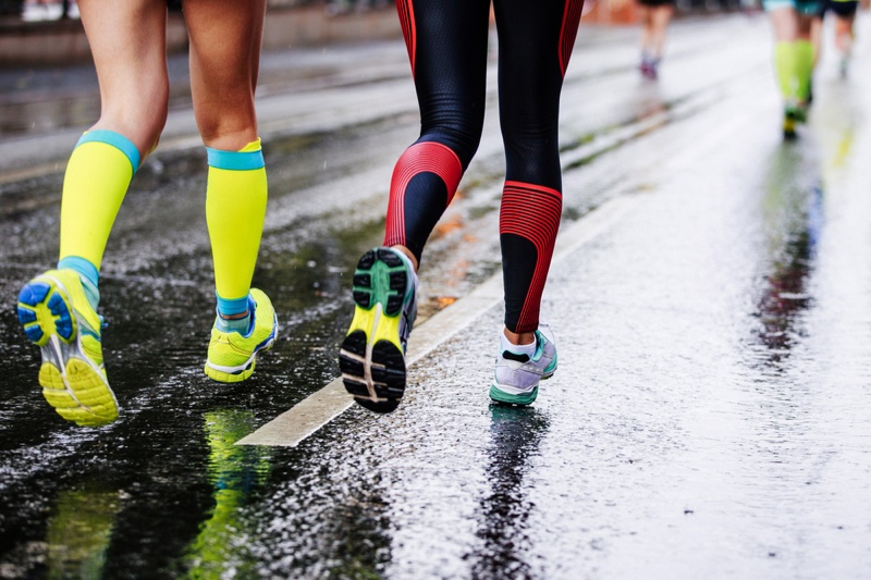 Running Women Colorful Compression Socks