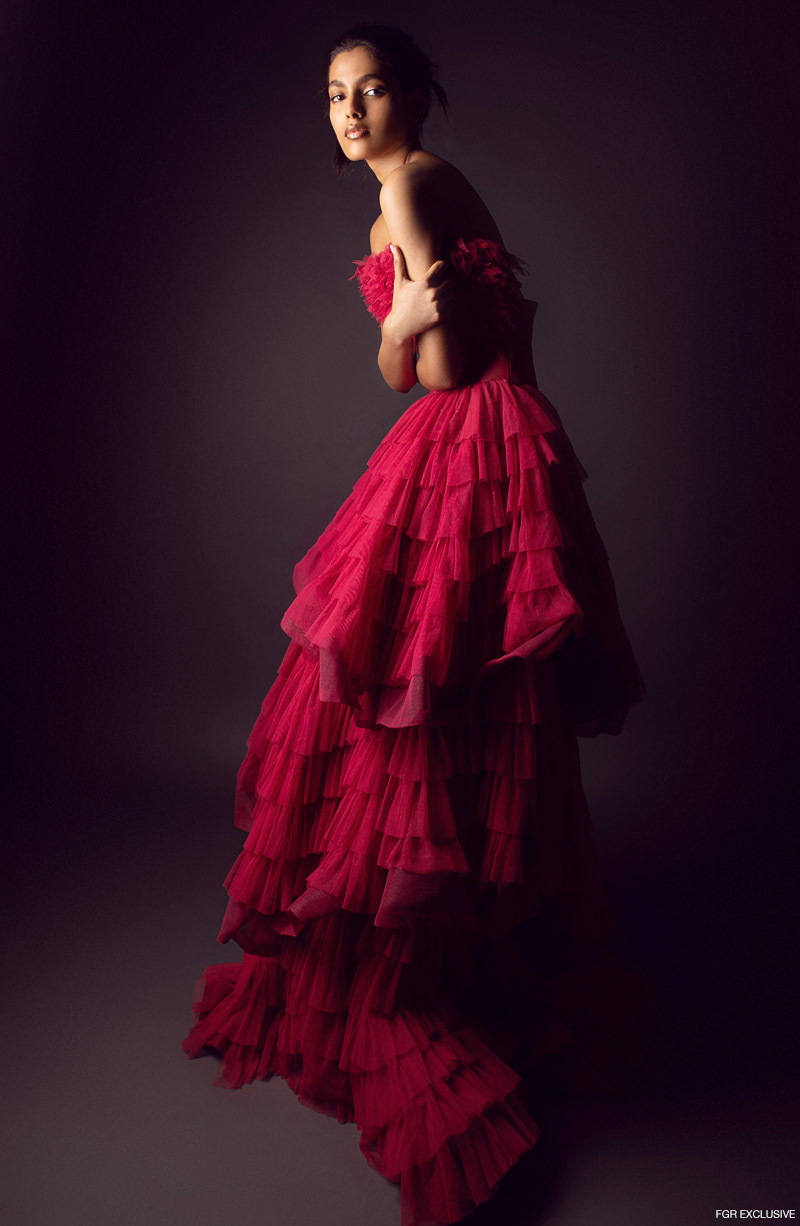 Red Gown Ambika Lal. Photo: Kay Sukumar
