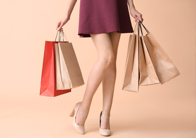Shopping Bags Woman's Legs