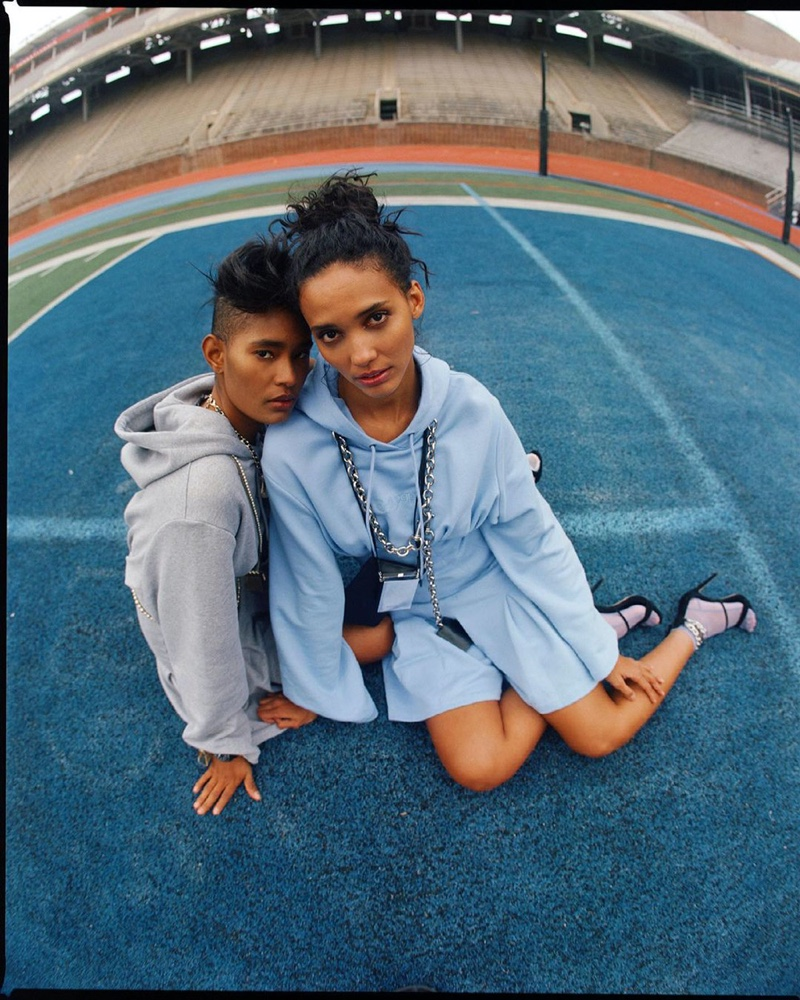 Cora & Ysaunny Pose in Sporty Looks for Marie Claire