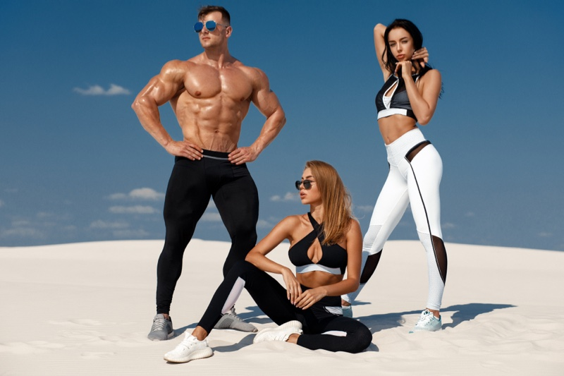 Tanned Models Beach Activewear Fitness Style
