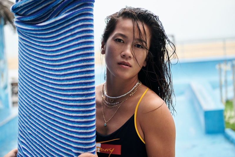 Chinese surfer Monica Guo appears in Tommy Hilfiger spring-summer 2021 campaign.