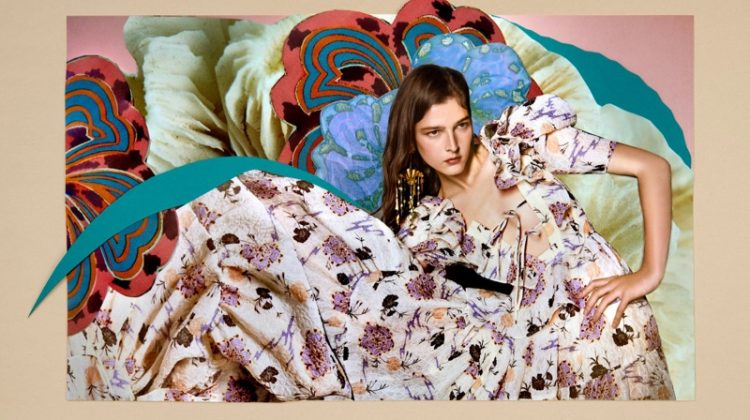An image from Ulla Johnson's spring 2021 advertising campaign.