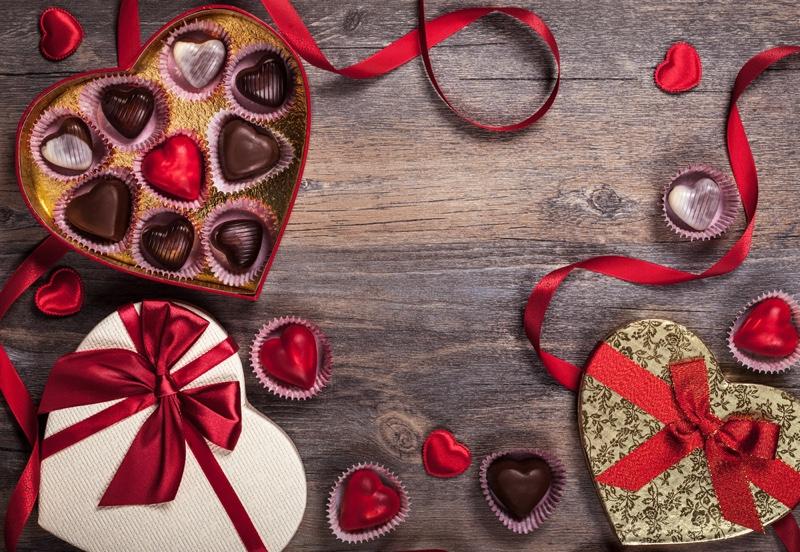 Valentine's Day Box Chocolate Candy Dessert
