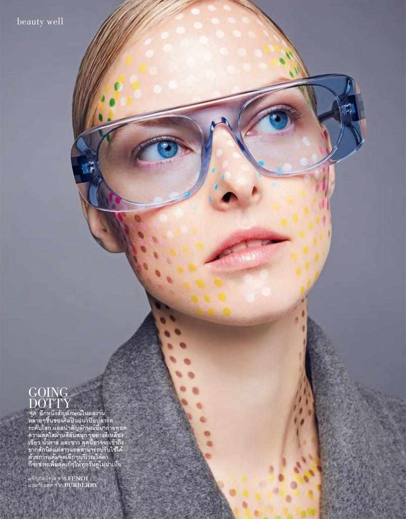 Vera Luijendijk Models Painted Beauty for ELLE Thailand