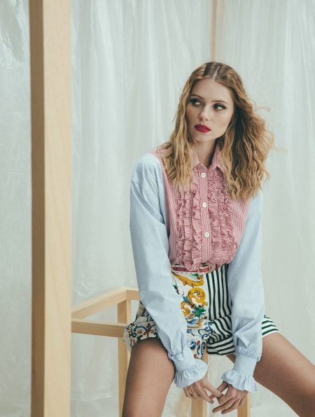 Vika Falileeva Poses in New Season Designs for Woman Spain