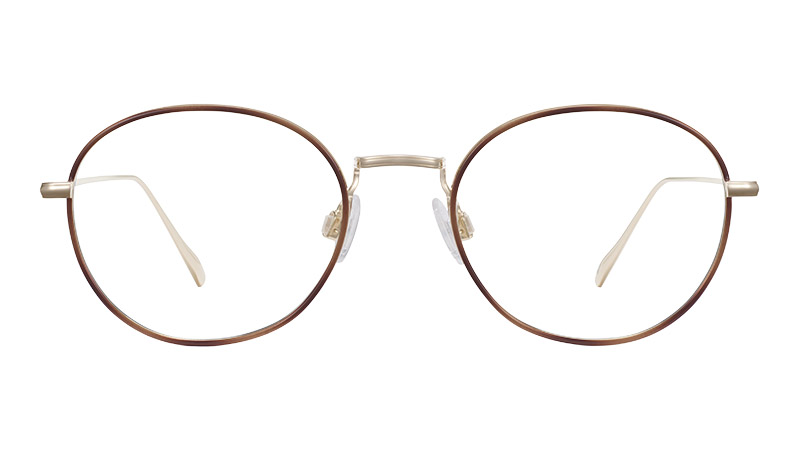 Warby Parker Colvin Glasses in Polished Gold with Savanna Tortoise $195