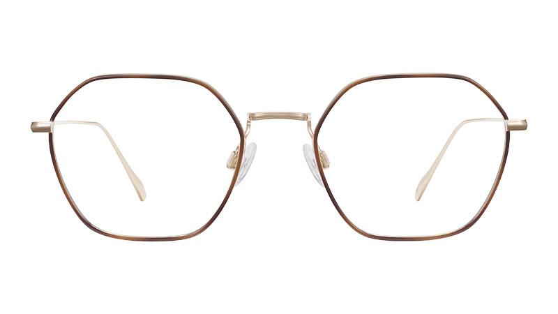 Warby Parker Stellan Glasses in Polished Gold with Oak Barrel $195