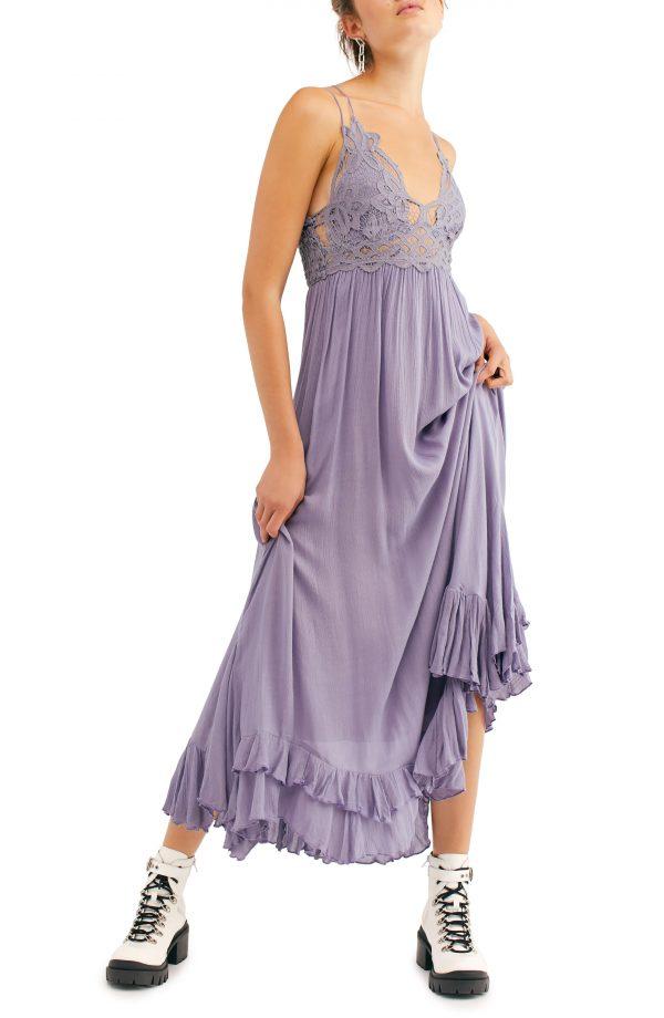 Women's Free People Adella Maxi Slipdress, Size X-Small - Grey