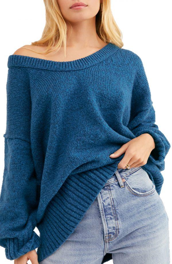Women's Free People Brookside Sweater, Size X-Small - Blue